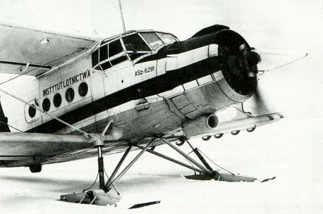 Ан-2 с лыжным шасси