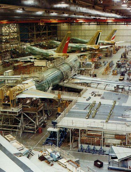 Сварочный цех завода в Эверетте, начало 1980-х годов