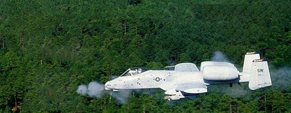 Мощная пушка GAU-8/A Avenger самолётов ОА-10/А-10