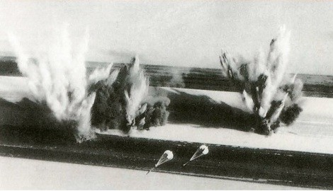 Французские самолёты Jaguar бомбят авиабазу