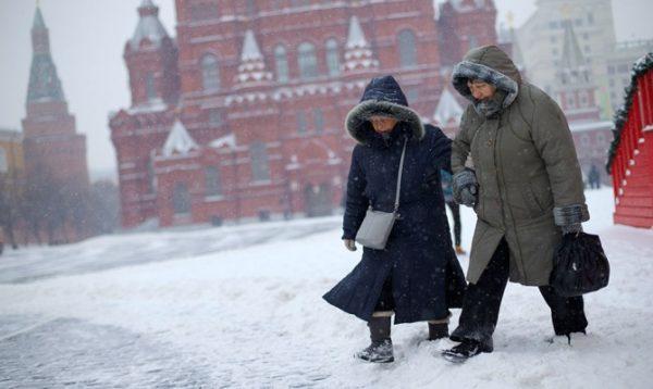 Двадцатиградусные морозы в столице