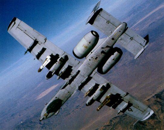 Вооружённый УР Maverick, штурмовик А-10