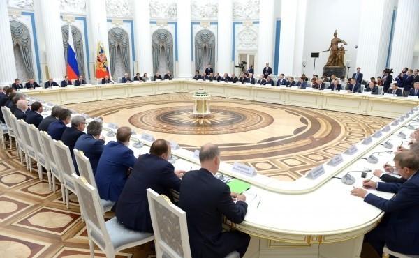 встреча в Кремле с представителями российских деловых кругов