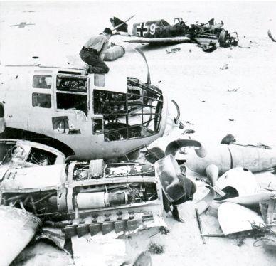 Подбитые самолёты He 111