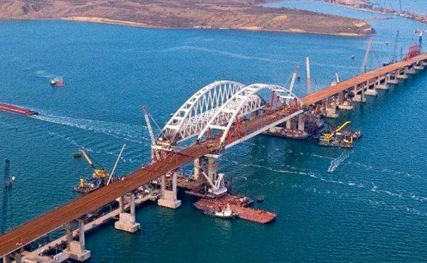Треснула опора Крымского моста