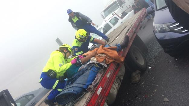 На трассе в Мексике столкнулись 50 автомобилей