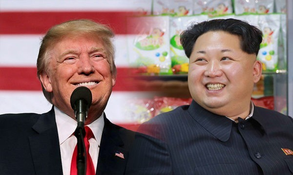 Дональд Трамп b Ким Чен Ын